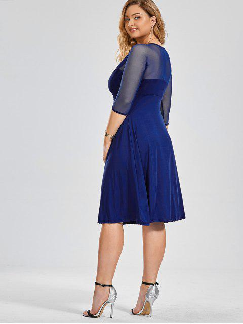 Robe de survêtement de style Voile Panel Plus - Bleu 4XL Mobile