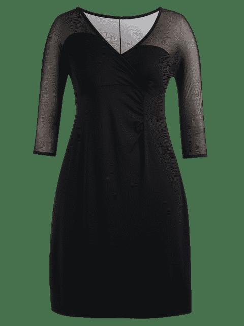Robe de survêtement de style Voile Panel Plus - Noir 2XL Mobile
