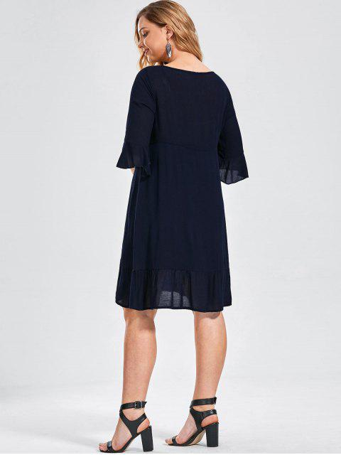 Robe à volants brodée - Bleu Violet 3XL Mobile
