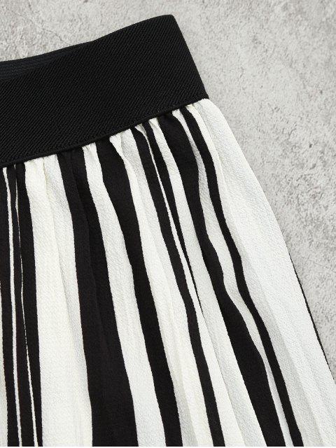 Tiered Flounce à rayures et ensemble à pantalons - Noir Bande L Mobile