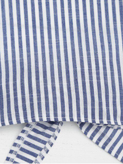 Ensemble de deux pièce rayé col halter - Bleu et Blanc L Mobile