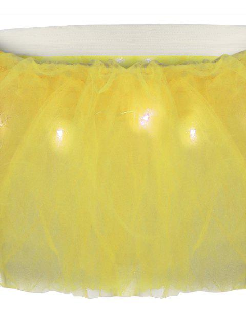 Tier Mesh Light Up Ballet Cosplay Jupe - Jaune TAILLE MOYENNE Mobile