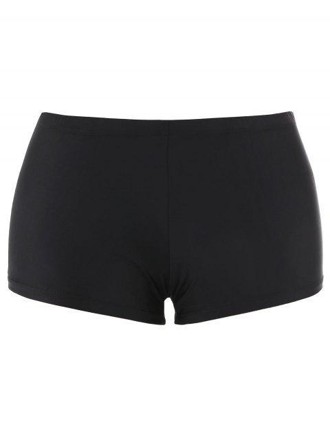 outfit Printed Padded Plus Size Tankini Set - BLACK 5XL Mobile