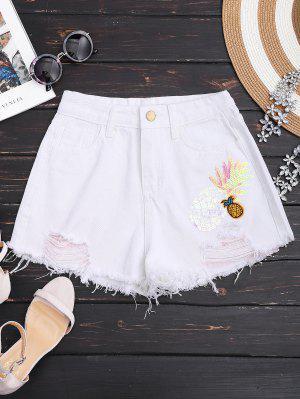 Pantalones De Mezclilla Riñonados - Blanco