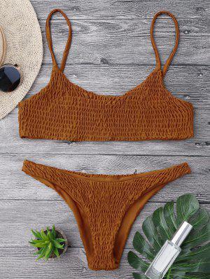 Bikini Y Pantalones De Mezclilla - Marrón M