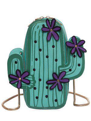 Divertida forma de cactus del bolso de Crossbody