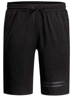 Seamless Zip Pocket Drawstring Shorts