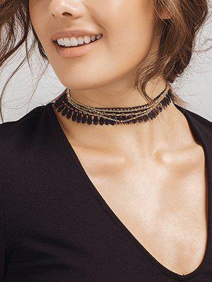 Tassel Vintage Chain Choker Necklace - Dourado