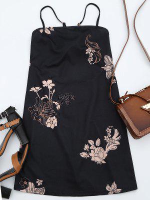 Vestido Estampado Con Estampado Floral - Negro Xl