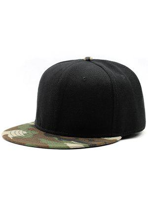 Flat Brim Camo Spliced Baseball Hat