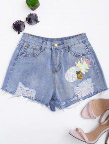 Pantalones De Mezclilla Riñonados - Denim Blue