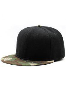 قبعة بيسبول تمويه شقة بريم سبليسد - الأسود والأخضر