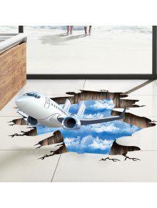 إزالة 3d طائرة السماء الطابق ديكور الجدار ملصق - أزرق 60 * 90cm