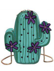 مضحك الصبار على شكل CROSSBODY حقيبة - أخضر
