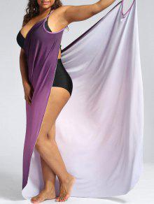 أومبير زائد الحجم التفاف التستر ماكسي اللباس - ميرلو 3xl