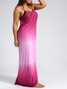 Ombre Plus Size Wrap Cover Up Maxi Dress PINK: Plus Size Swimwear ...