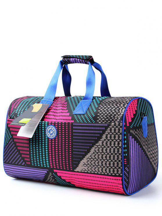 buy Nylon Printed Gym Bag - COLORMIX