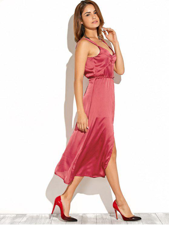 Cami Backless Robe fendue - Rouge S