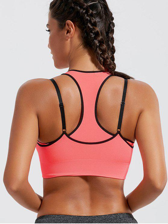 حمالة الصدر رياضية الشريط مبطن - Orangepink M