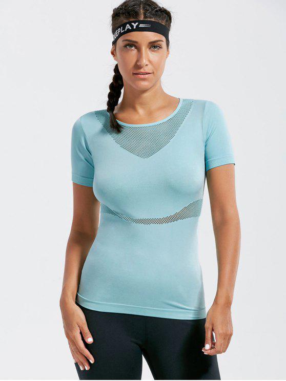 Camiseta a prueba de viento de la aptitud de la m - Azul Claro S