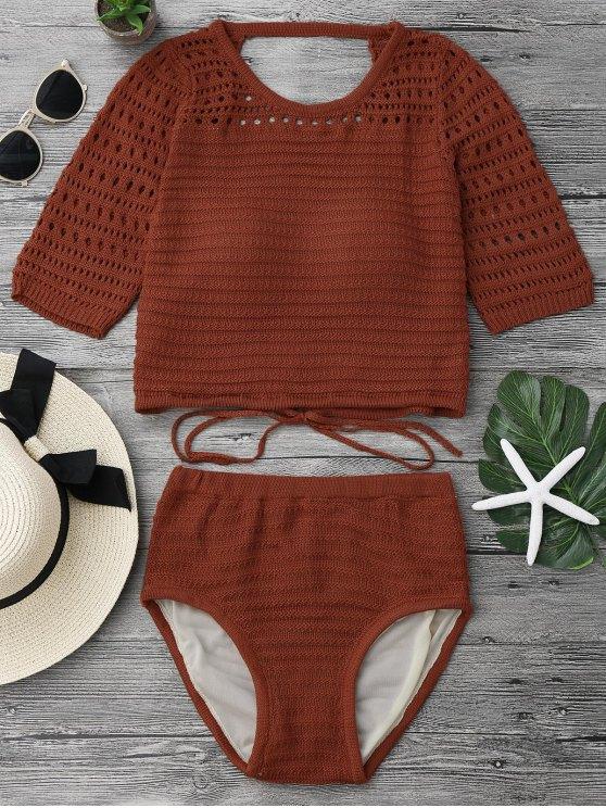 Pantalones acolchados de costura de ganchillo y bikini - Jacinto Única Talla