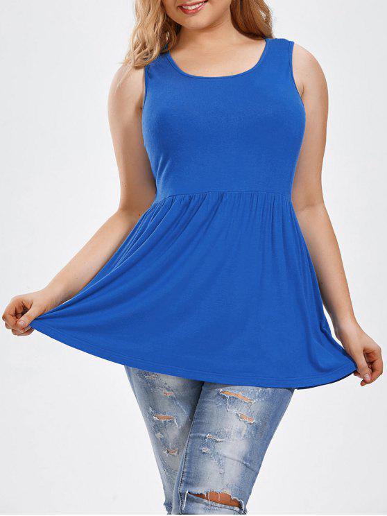 Haut taille sans manches à manches longues - Bleu 2XL