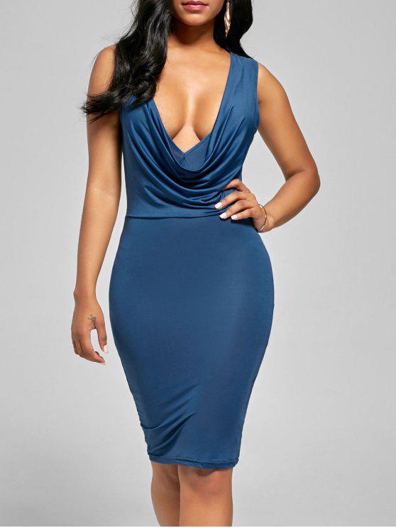 فستان السهرة غارق ضيق - الثلج الأزرق M