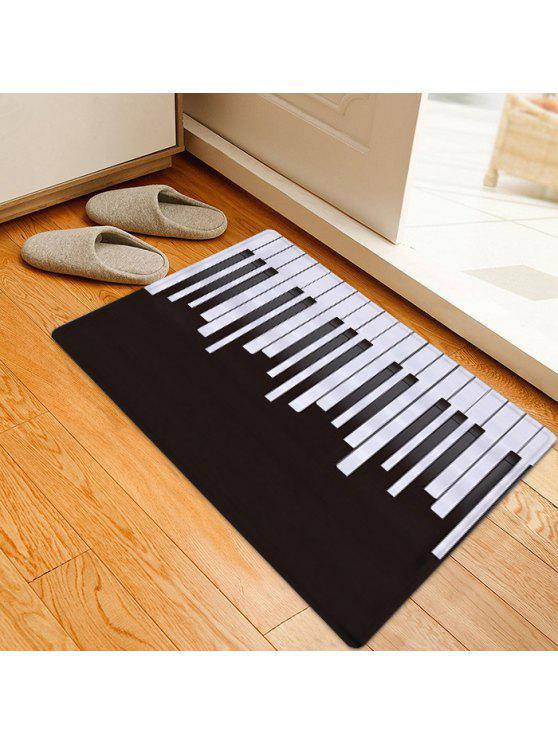 نمط البيانو منطقة امتصاص الماء البساط - أسود أبيض W16 INCH * L24 INCH