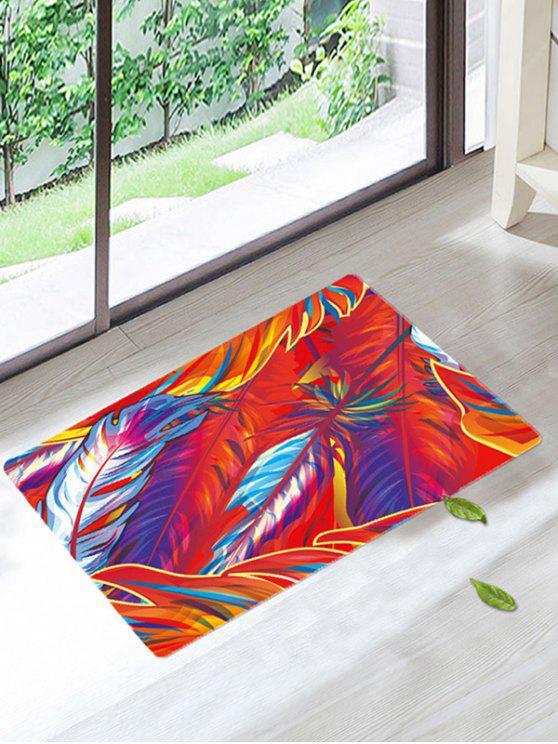 الفن ريشة عدم الانزلاق حمام البساط الكلمة - مزيج ملون W20 بوصة * L31.5 بوصة
