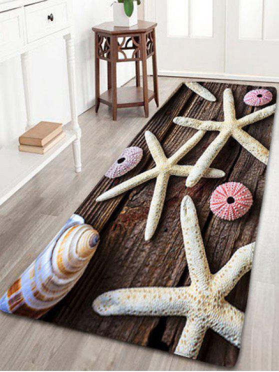 الخشب طباعة الفانيلا سكيدبروف نجم حمام حصيرة - روزوود W16 بوصة * L47 بوصة