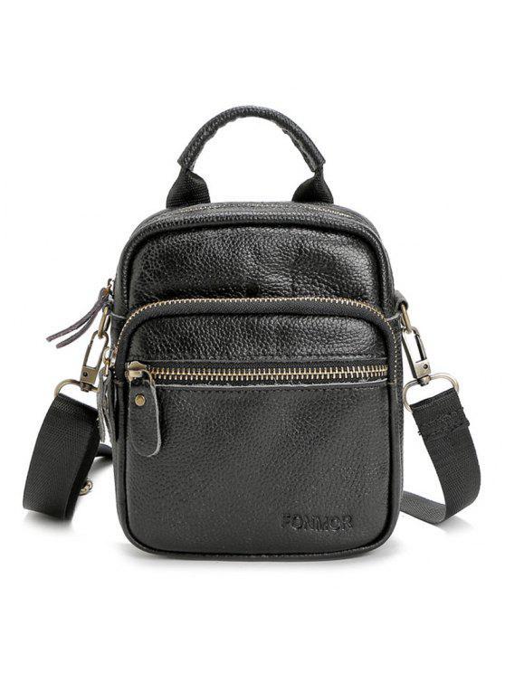 بيبل بو الجلود حقيبة كروسبودي - أسود