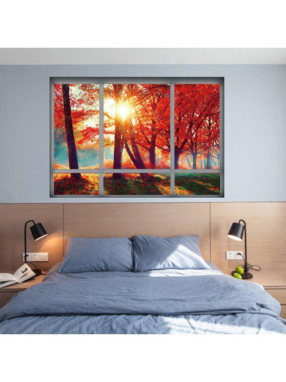 الخريف مشهد 3d الجدار ملصق تزيين المنزل - ياقوتة 48.5 * 68CM