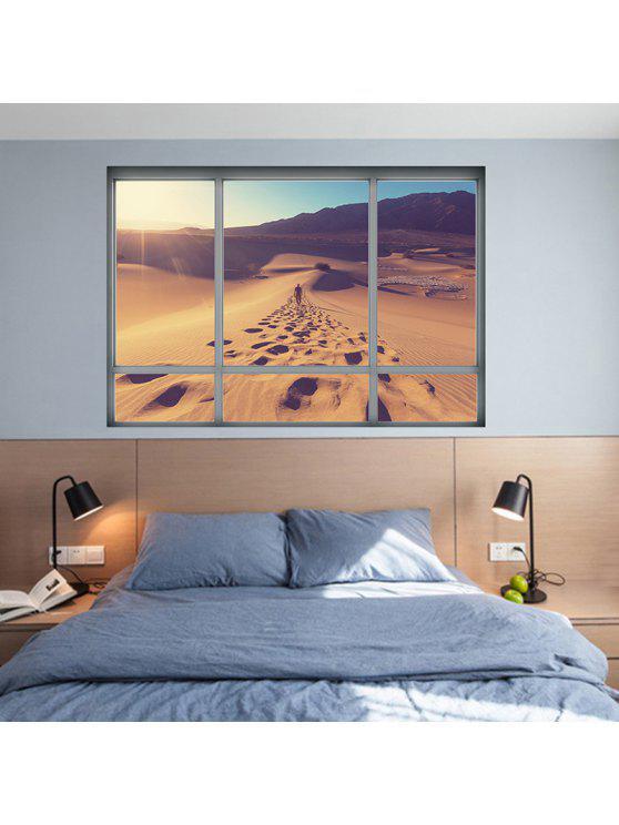 للإزالة 3d الصحراء المشهد الفينيل الجدار ملصق - BROWN 48.5 * 68CM