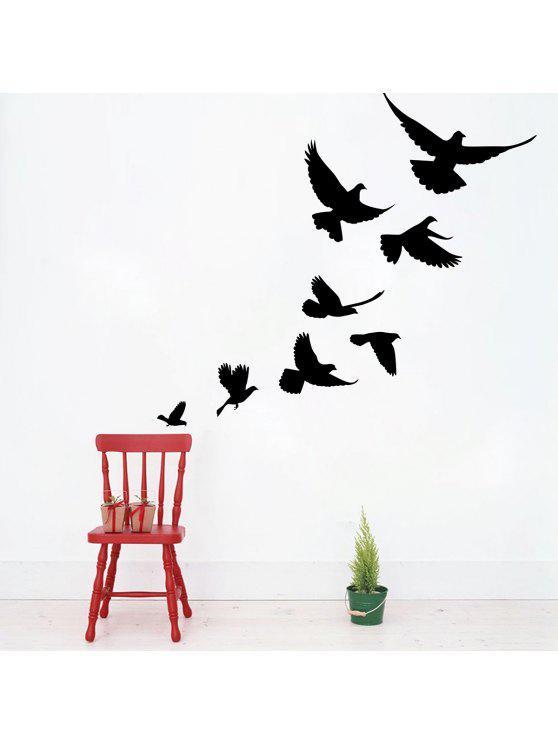 بيفي الطيور الفينيل ديكور المنزل الجدار ملصق - أسود 57*52CM