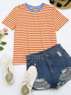 Short Sleeve Stripes T-shirt - Stripe S