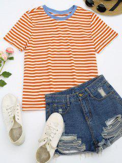 Short Sleeve Stripes T-shirt - Stripe M