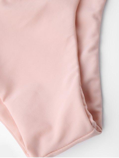chic Tie Back Halter Toddler Girls Bikini Set - PINK 4T Mobile