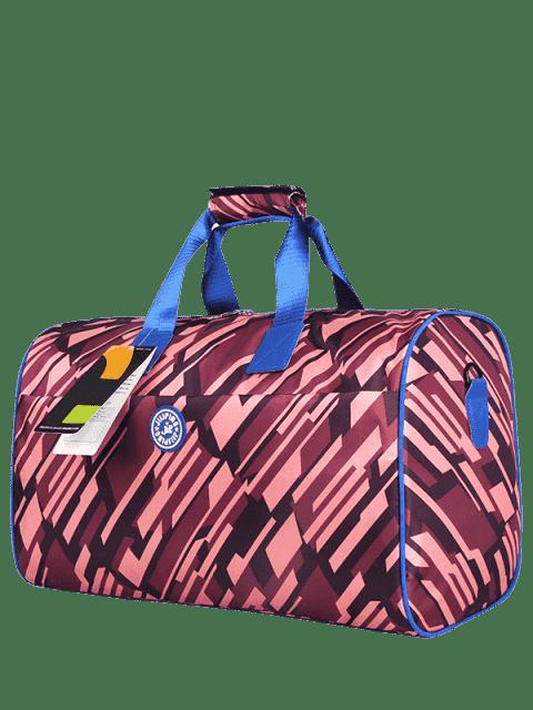 Nylon imprimé Gym Bag - Bordeaux  Mobile