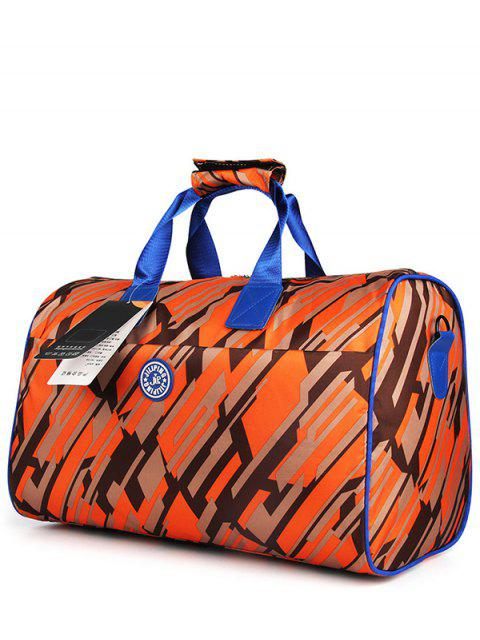 unique Nylon Printed Gym Bag - ORANGE  Mobile