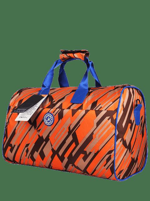 Nylon imprimé Gym Bag - Orange  Mobile