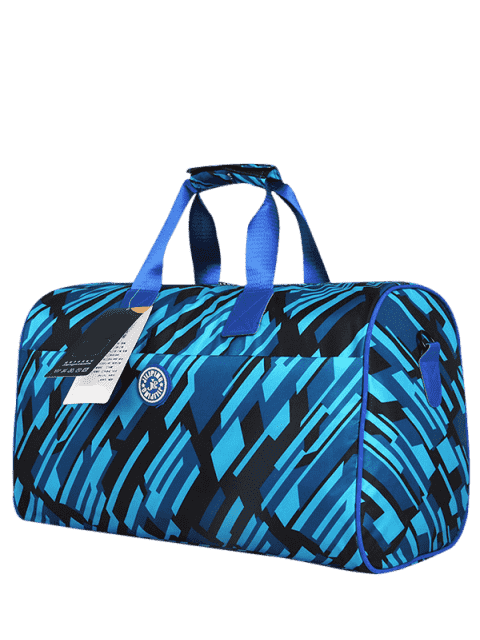 Nylon imprimé Gym Bag - Noir Bleu  Mobile