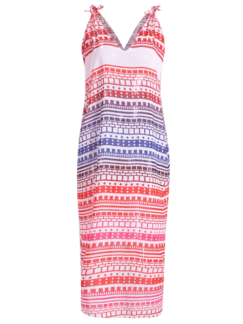 online Ethnic Print Cami Chiffon Dress - COLORMIX ONE SIZE(FIT SIZE XS TO M) Mobile