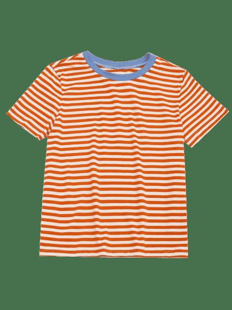 buy Short Sleeve Stripes T-shirt - STRIPE L Mobile