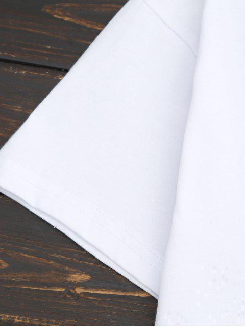 sale Loose Choker Letter T-Shirt - WHITE S Mobile