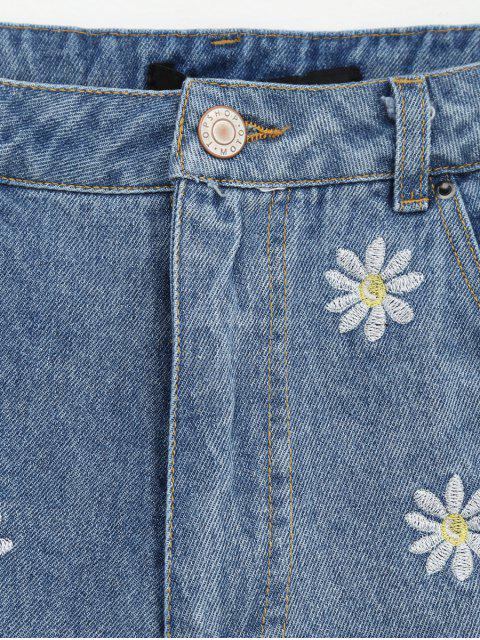 Shorts Denim Brodés - Denim Bleu M Mobile
