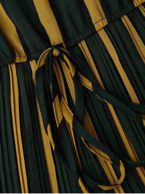lady Self Tie Striped Cami Romper - STRIPE ONE SIZE Mobile