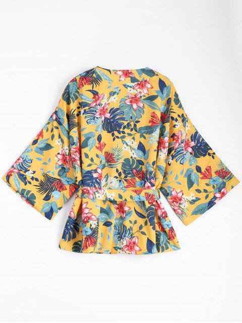 Manteau en mousseline de soie - Jaune L Mobile