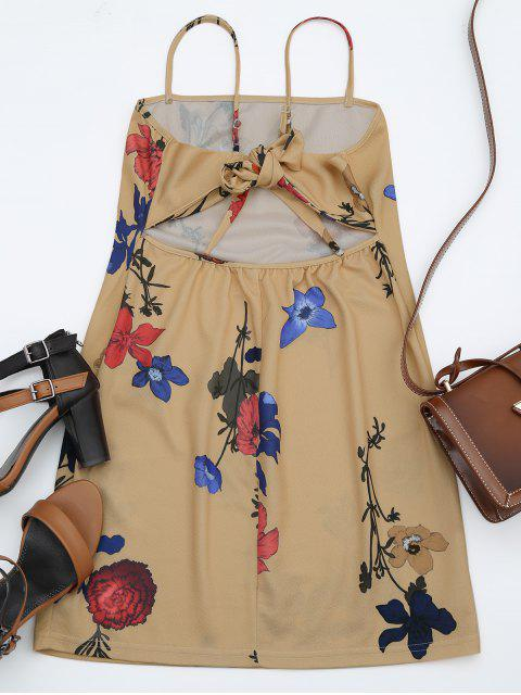 outfits Backless Flower Cami Dress - FLORAL M Mobile
