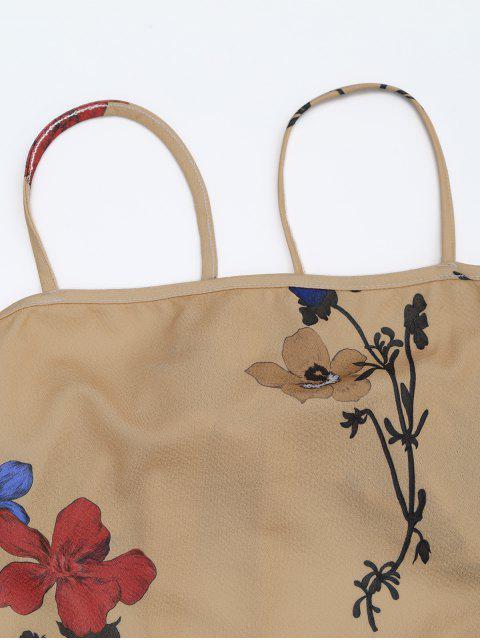shop Backless Flower Cami Dress - FLORAL L Mobile