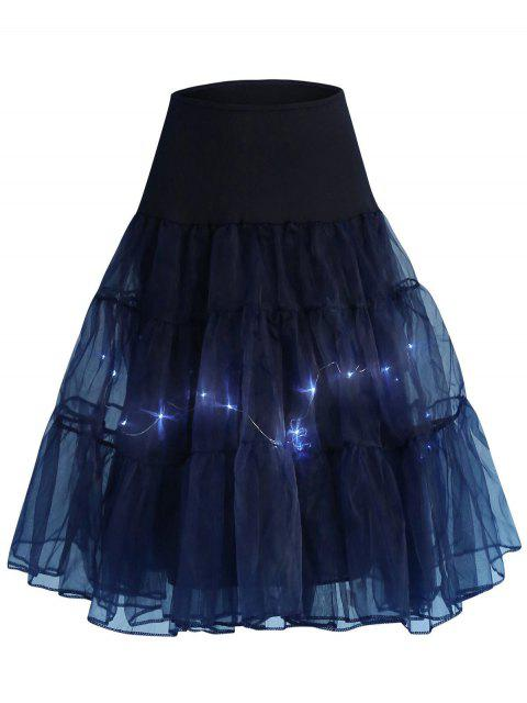 Flounce Light Up Cosplay Jupe - Azuré XL Mobile